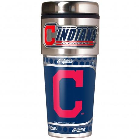 Cleveland Indians Travel Mug 16oz Tumbler with Logo