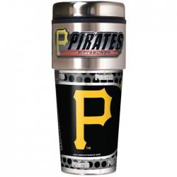 Pittsburgh Pirates Travel Mug 16oz Tumbler with Logo