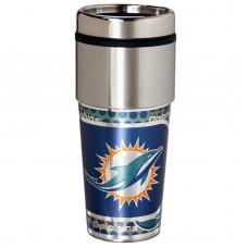 Miami Dolphins Stainless Steel Tumbler Mug