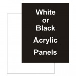 "24"" x 56"" Acrylic Black Replacement Panel"