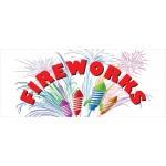 Fireworks Rockets 2.5' x 6' Vinyl Business Banner