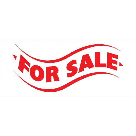For Sale White 2.5' x 6' Vinyl Business Banner
