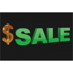 Large Dollar Sign Sale 2' x 3' Vinyl Business Banner
