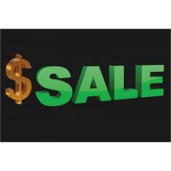 Large Dollar Sign Sale 2' x 3' Vinyl Business Banner
