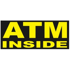 ATM Inside 2.5' x 6' Vinyl Business Banner