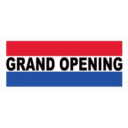Grand Opening Patriotic 2.5' x 6' Vinyl Business Banner