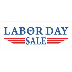 Labor Day Sale 2.5' x 6' Vinyl Business Banner