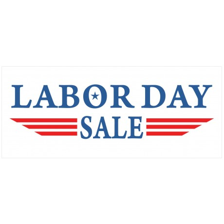 Labor Day Sale 2.5' x 6' Vinyl Business Banner
