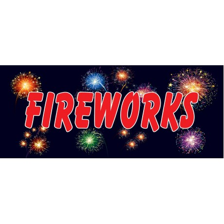 Fireworks Night 2.5' x 6' Vinyl Business Banner