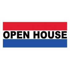 Open House 2.5' x 6' Vinyl Business Banner