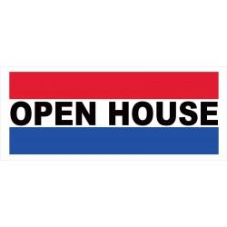 Open House 2.5' x 6' Vinyl Business Banner