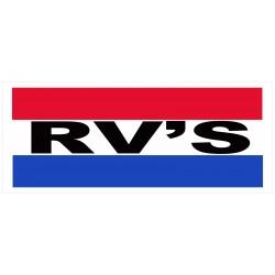 RV's 2.5' x 6' Vinyl Business Banner