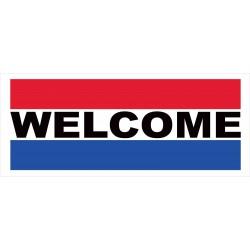 Welcome 2.5' x 6' Vinyl Business Banner