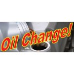 Oil Change 2.5' x 6' Vinyl Business Banner