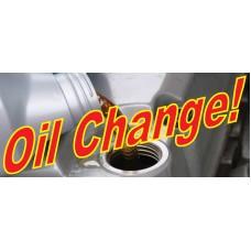 Oil Change 2.5' x 6' Vinyl Business Banner