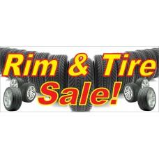 Rim & Tire Sale 2.5' x 6' Vinyl Business Banner