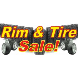 Rim & Tire Sale 2.5' x 6' Vinyl Business Banner