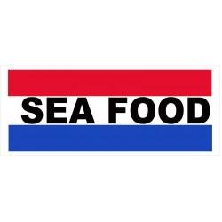 Seafood Patriotic 2.5' x 6' Vinyl Business Banner