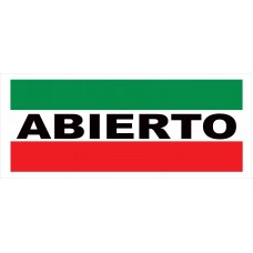 Abierto 2.5' x 6' Vinyl Business Banner