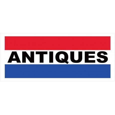 Antiques 2.5' x 6' Vinyl Business Banner