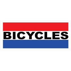 Bicycles 2.5' x 6' Vinyl Business Banner