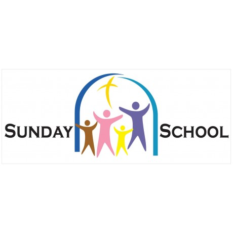 Sunday School 2.5' x 6' Vinyl Church Banner