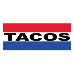 Tacos 2.5' x 6' Vinyl Business Banner