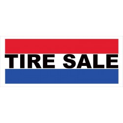 Tire Sale 2.5' x 6' Vinyl Business Banner