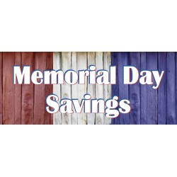 Memorial Day Savings 2.5' x 6' Vinyl Business Banner