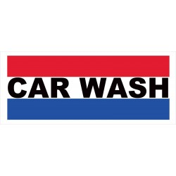 Car Wash Patriotic 2.5' x 6' Vinyl Business Banner