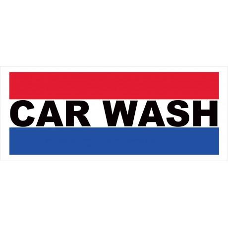 Car Wash Patriotic 2.5' x 6' Vinyl Business Banner