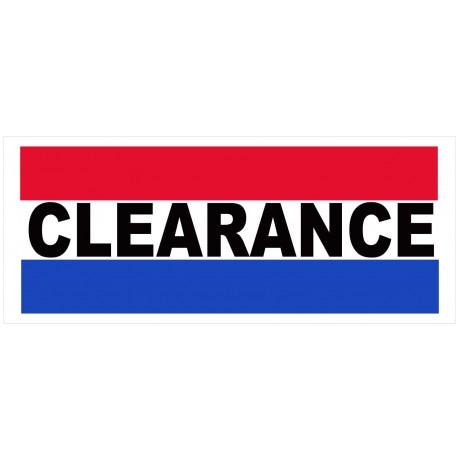 Clearance 2.5' x 6' Vinyl Business Banner