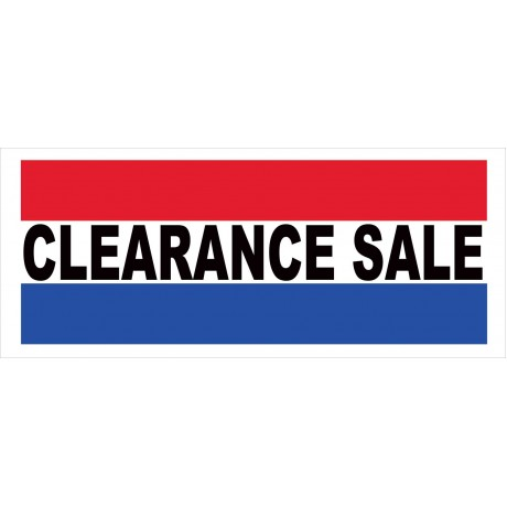 Clearance Sale 2.5' x 6' Vinyl Business Banner