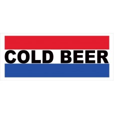 Cold Beer 2.5' x 6' Vinyl Business Banner