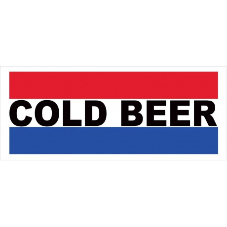 Cold Beer 2.5' x 6' Vinyl Business Banner