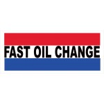 Fast Oil Change 2.5' x 6' Vinyl Business Banner
