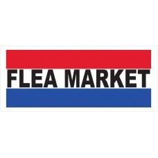 Flea Market 2.5' x 6' Vinyl Business Banner