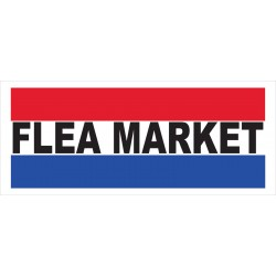 Flea Market 2.5' x 6' Vinyl Business Banner