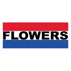 Flowers 2.5' x 6' Vinyl Business Banner