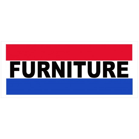 Furniture 2.5' x 6' Vinyl Business Banner