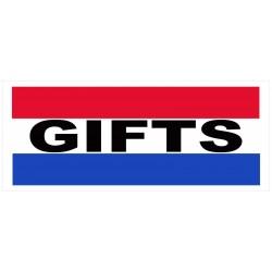 Gifts 2.5' x 6' Vinyl Business Banner