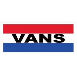 Vans 2.5' x 6' Vinyl Business Banner