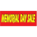 Memorial Day Sale Red & Yellow 2.5' x 6' Vinyl Business Banner