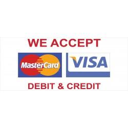 Visa Mastercard 2.5' x 6' Vinyl Business Banner