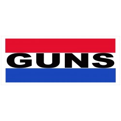 Guns 2.5' x 6' Vinyl Business Banner