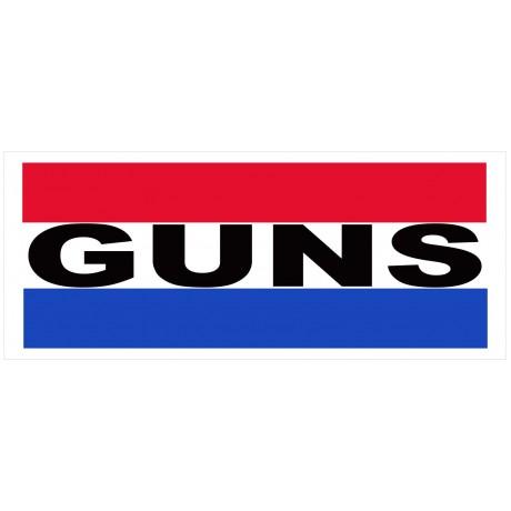 Guns 2.5' x 6' Vinyl Business Banner