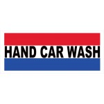 Hand Car Wash 2.5' x 6' Vinyl Business Banner