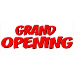 Grand Opening Red Shadow 2.5' x 6' Vinyl Business Banner
