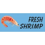 Fresh Shrimp Blue 2.5' x 6' Vinyl Business Banner