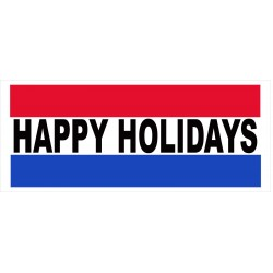 Happy Holidays 2.5' x 6' Vinyl Business Banner